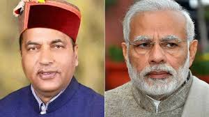 SHRI JAIRAM THAKUR CM HIMANCHAL PRADESH AND SHRI NARENDRA MODI PM INDIA